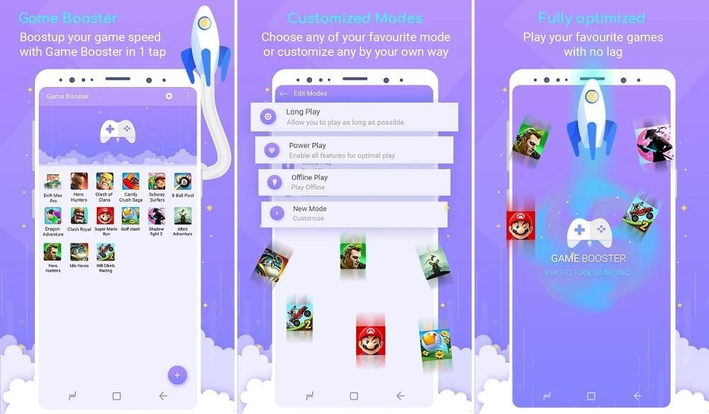 Phần mềm giảm LAG khi chơi game trên Android - Game Booster (Photo Tools Lab, Inc.)