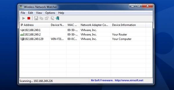 Phần mềm ngăn chặn truy cập WiFi trái phép - Wireless Network Watcher