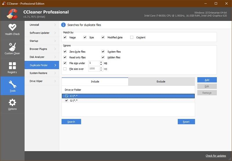 Phần mềm xóa file trùng lặp tốt nhất - CCleaner Pro