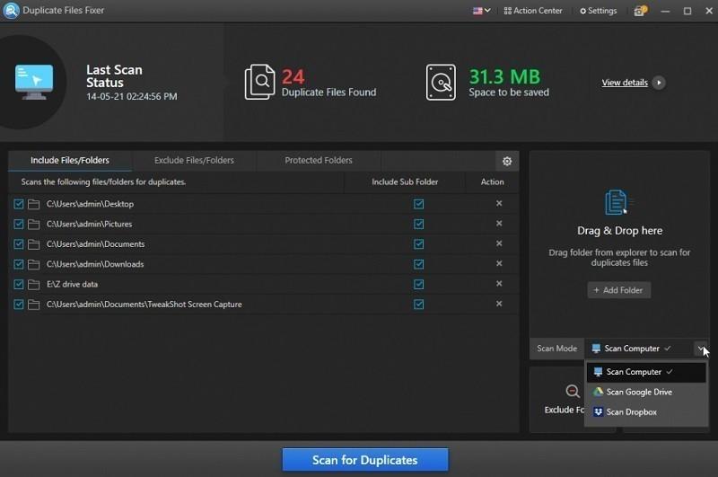 Phần mềm xóa file trùng lặp tốt nhất - Duplicate Files Fixer