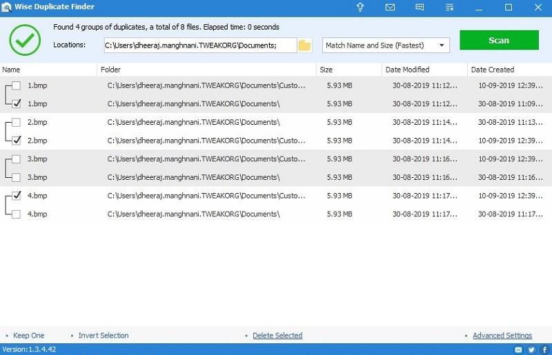 Phần mềm xóa file trùng lặp tốt nhất - Wise Duplicate Finder