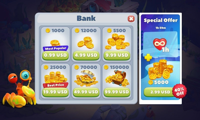 Bạn có thể tìm thấy In-App Purchase ở đâu?
