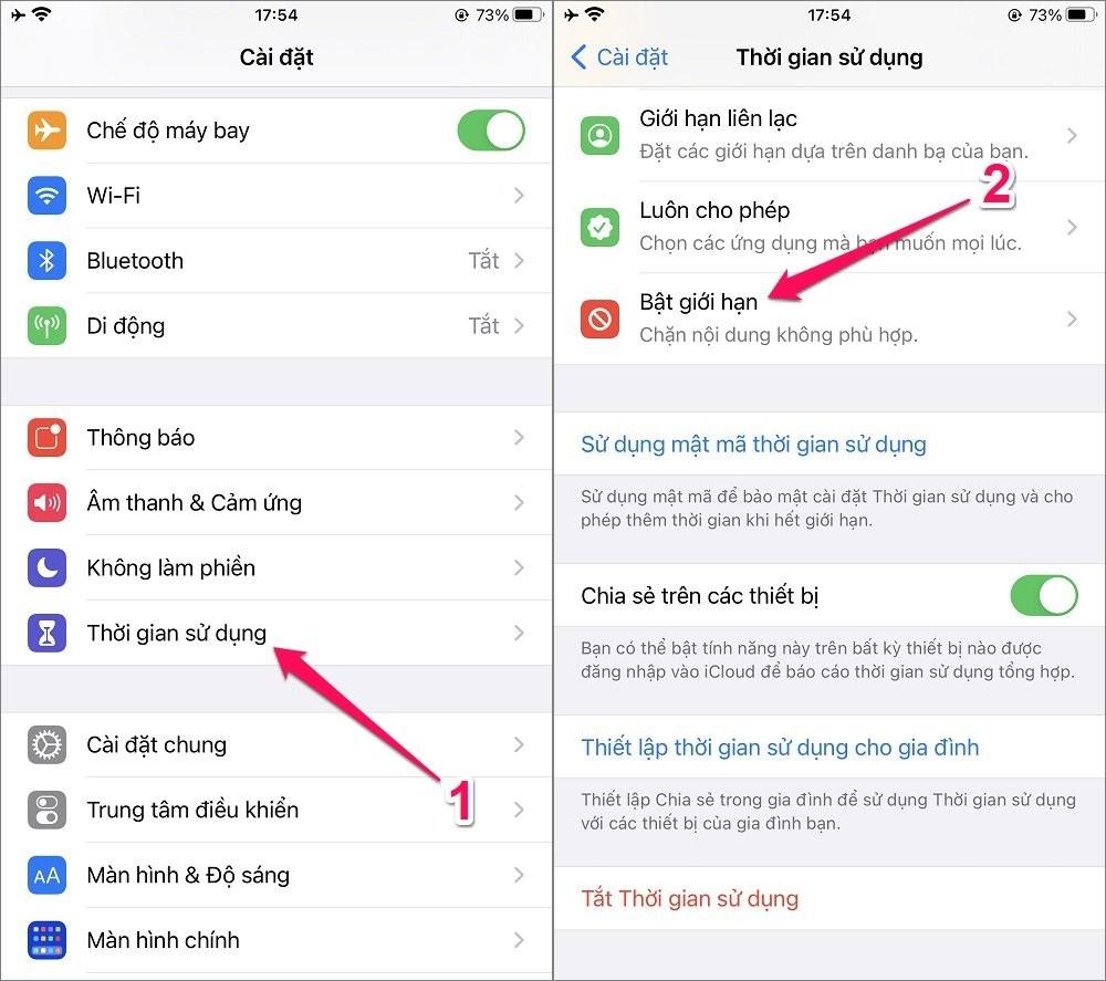 Hướng dẫn cách tắt In-App Purchase trên App Store