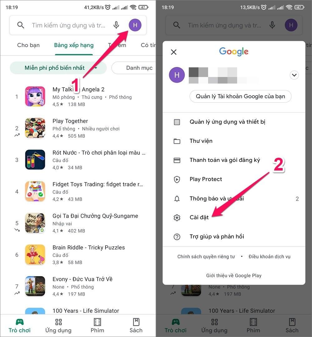 Hướng dẫn cách tắt In-App Purchase trên Google Play
