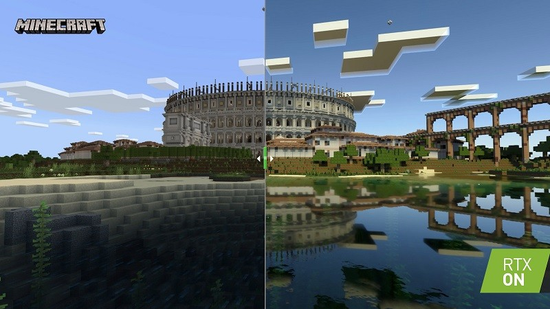 Ray Tracing trong tựa game Minecraft