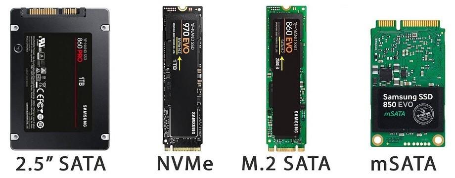 SSD M.2 NVMe và SATA